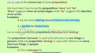 Use of Prepositions