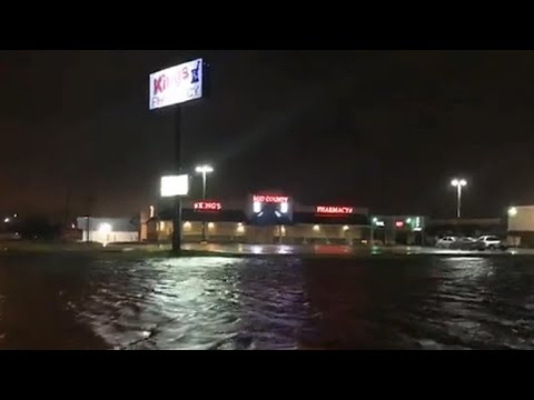 Harvey floods Louisiana with second landfall