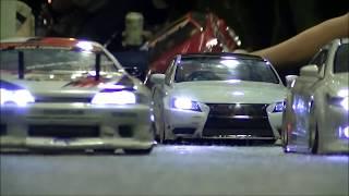 苫小牧市マルテサーキットRC  05(2013年7月 焼肉食べて??走行会) カーペットコースハプニングあり Drifting R/C Car  ラジドリ