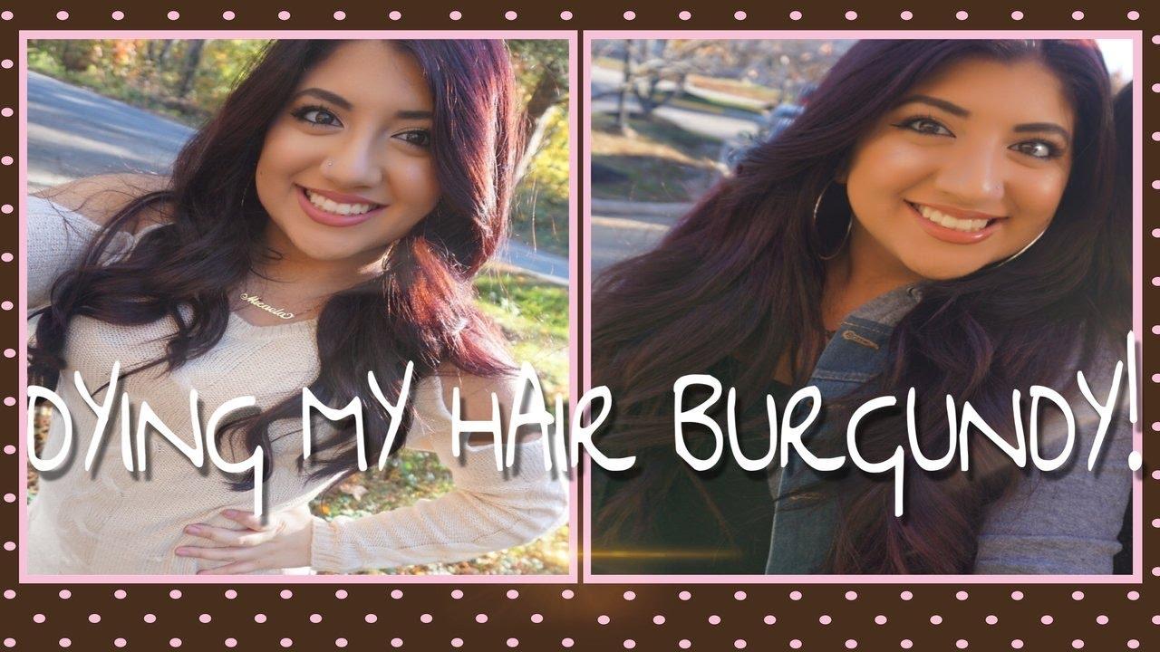 Dying My Hair Burgundy Ft Revlon Luxurious Colorsilk Youtube