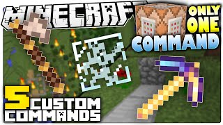Minecraft | 5 Custom Commands That Make Minecraft Less Annoying | Only One Command Block