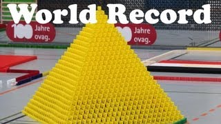 guinness world record largest domino 3d pyramid 27x27