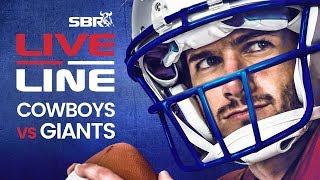 Cowboys vs Giants | LIVE Monday Night Football NFL Betting on SBR
