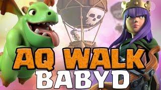 aq walk baby dragon strategy th9 3 star attack   clash of clans