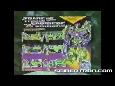 Transformers G1 Constructicons Devastator commercial 1985