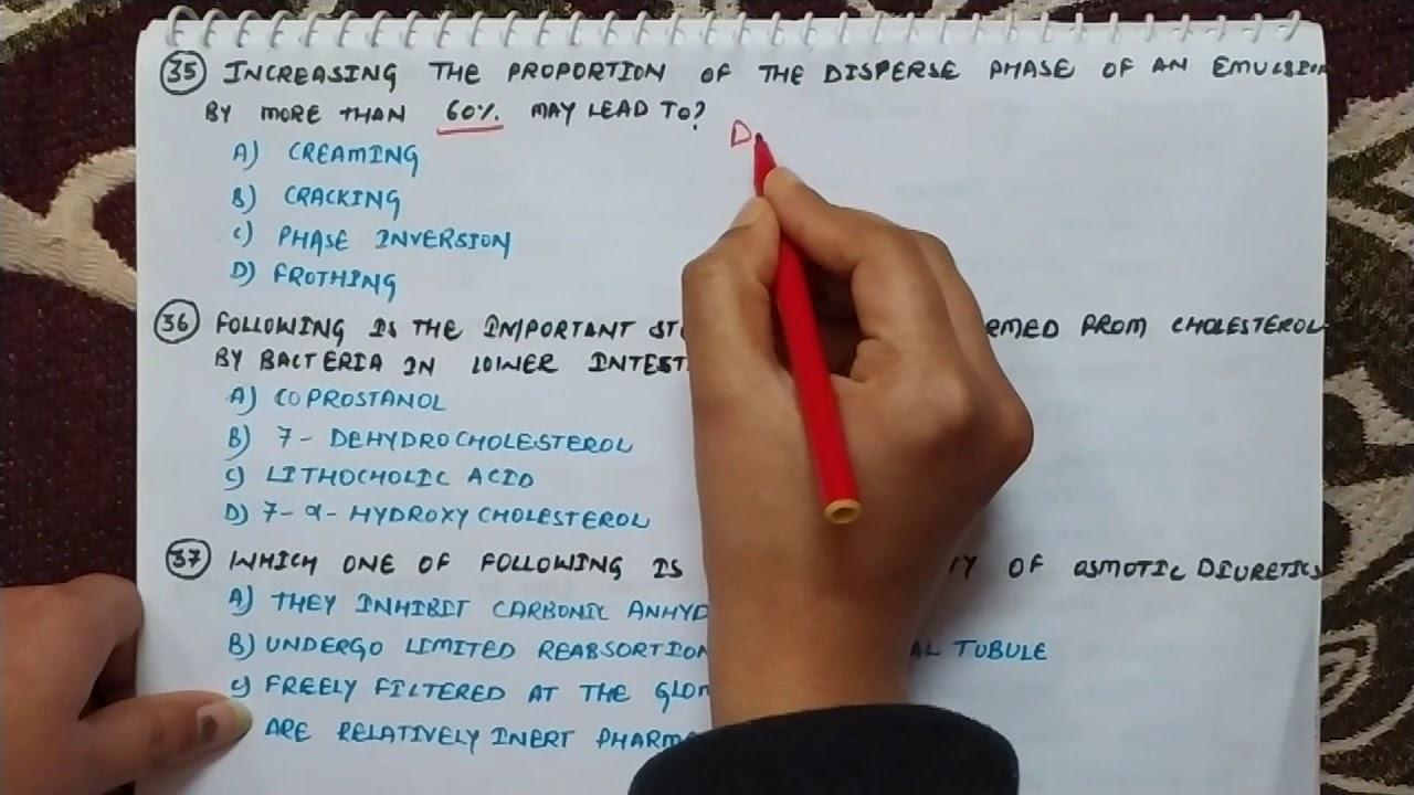 GPAT answer sheet part-2 | GPAT answer key in hindi - YouTube