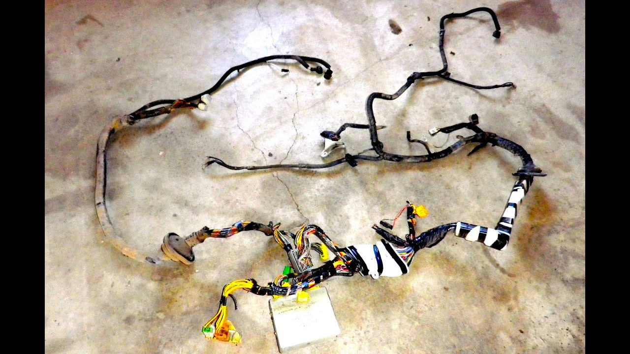 Subaru wiring harness pull for VW engine swap  YouTube