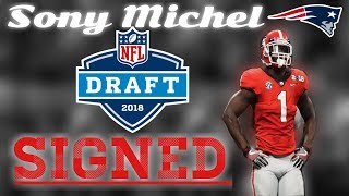Patriots RB Sony Michel signs rookie contract