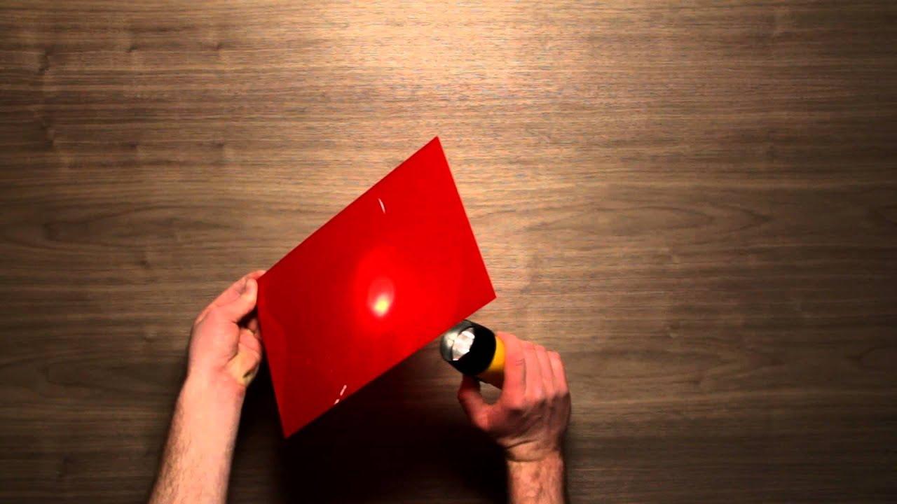 Translucent Red Acrylic Sheet Youtube
