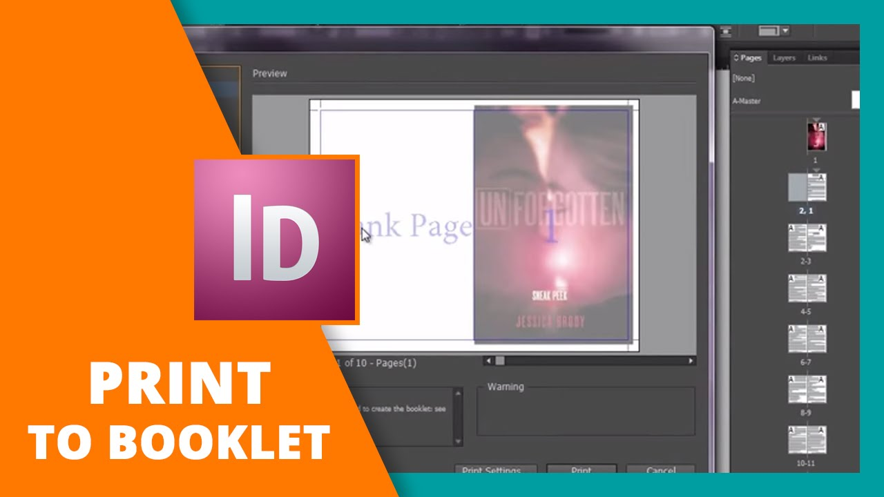 how to print booklet in indesign book design youtube
