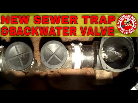 Backwater Valve And Sewer Trap Installation