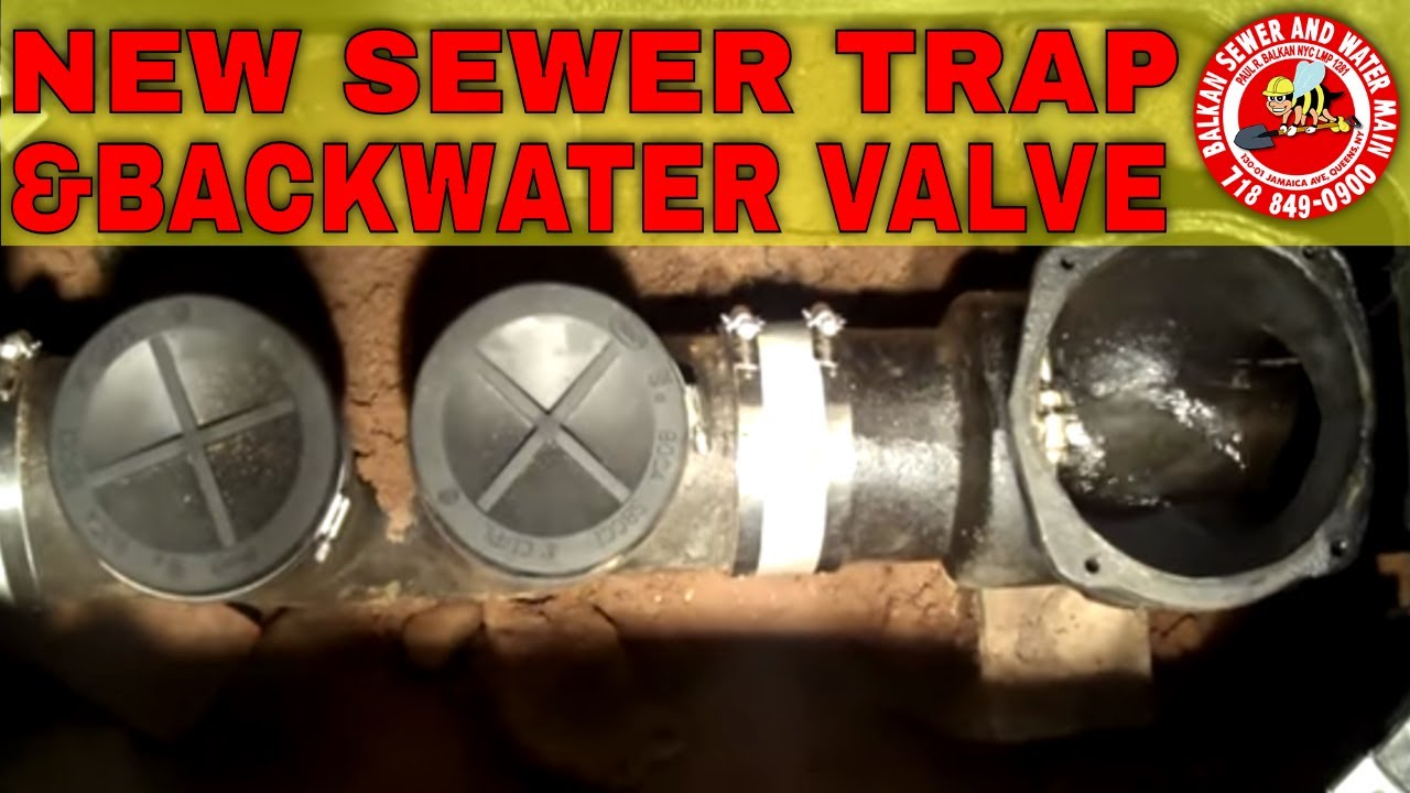 backwater valve and sewer trap installation youtube
