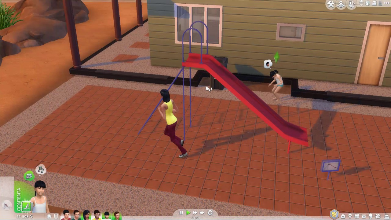 Bigger slide, functional. Sims 4. - YouTube Sims 1 Objects