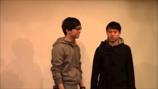 2015年3月16日新宿fu-にて行われた、明治大学お笑いサークル木曜会Z定期ライブ『準備によねんがない』1部でのネタです。