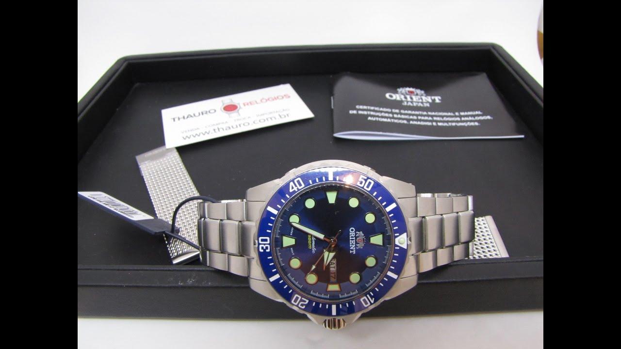 17527613e6a Relógio Orient 469SS073 D1SX Netuno Novo Poseidon Diver 500M Azul - Thauro  Relógios