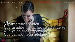 Jenni Rivera - Aparentemente Bien (Versión Banda - LYRICS / LETRA ) HD
