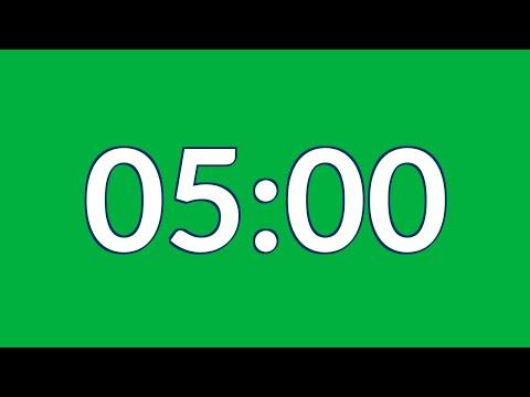 Free 5 minute timer green screen