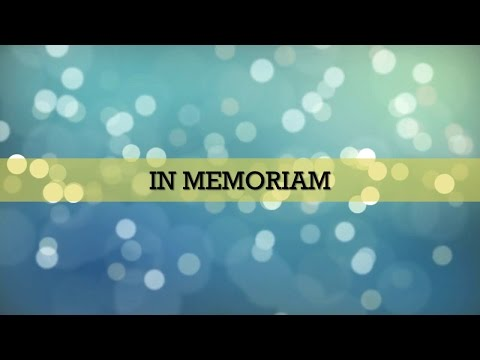 A tribute to journalists who passed away since 2014
