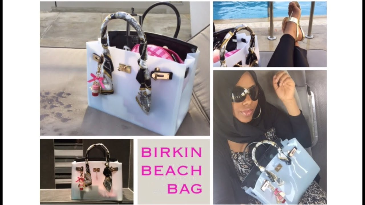 What's in my Birkin 'BIKI' beach bag? - YouTube