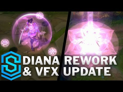 Diana Rework & Visual Effect Update Comparison - All Skins   League Of Legends