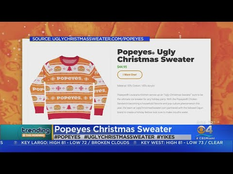 Dana McKenzie - Popeyes debuts a chicken-inspired ugly Christmas sweater