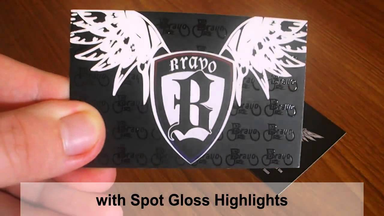 Spot Gloss Business Cards - YouTube