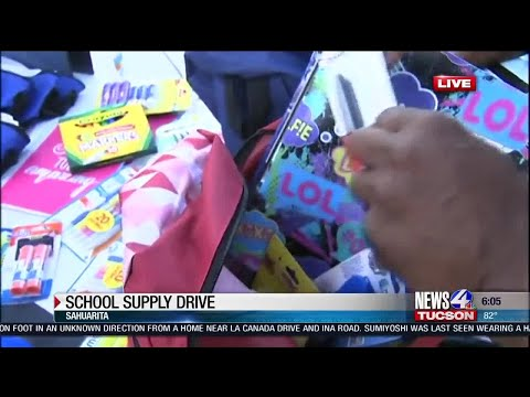 Day 3: School Supply Drive -Sahuarita Intermediate School