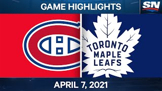 NHL Game Highlights | Canadiens vs. Maple Leafs - Apr. 7, 2021