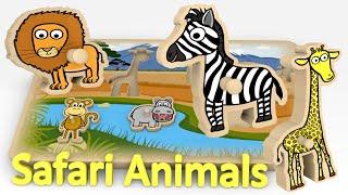 Puzzle dla dzieci ze zwierzętami w Afryce | CzyWieszJak