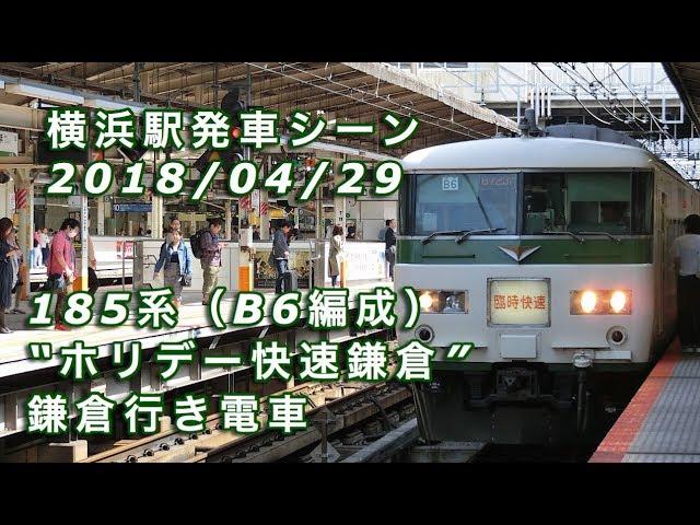 """185系(B6編成)""""ホリデー快速鎌..."""