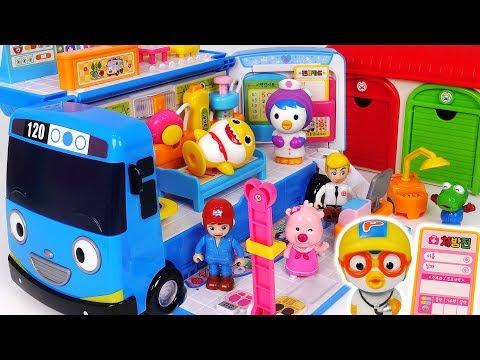 go!-tayo-hospital-bus!-doctor-and-ambulance-play-with-baby-shark,-pororo-#pinkypoptoy