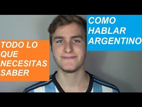 Cómo hablar como un argentino / acento argentino (paso a paso)