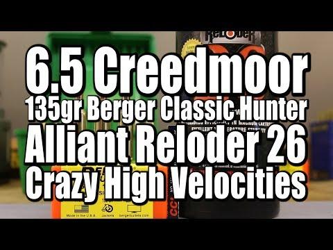 6.5 Creedmoor - 135gr Berger Classic Hunter With Reloder 26