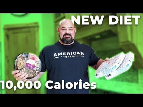 FULL DAY OF EATING ON THE NEW DIET! 10,000 CALORIES thumbnail