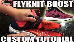 """Custom """"Flyknit UltraBoost"""" Tutorial! (Nike Flyknit Racer w adidas Ultra Boost w On Feet)"""