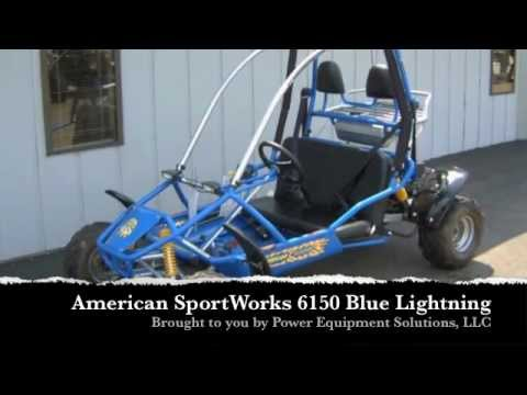 American SportWorks 6150 Blue Lightning Go Kart - YouTube