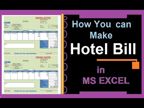 Create Hotel Bill Receipt Excel 2007 Simple Easy Process