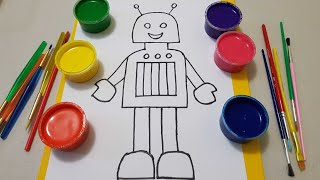 learn Colors from Robot /learn drawing & painting Robot page/Painting page/baby rhymes for children