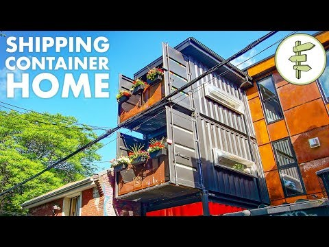 Living in a Beautiful Shipping Container Home in the City