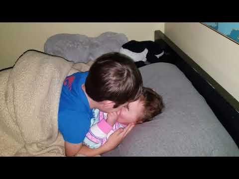 Elisha and Abby cuddle time