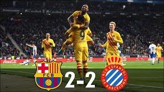 Barcelona vs Espanyol 2-2 - All Goals & Highlights - 2020