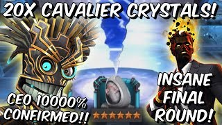 20x 6 Star Warlock Cavalier Featured Crystal Opening Final CEO Round! - Marvel Contest of Champions