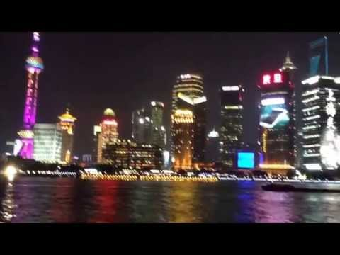 Shanghai city - Night and Day View