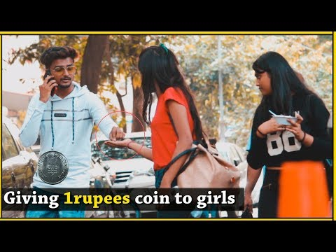 Giving 1Rupees Coin to girls , Barking infront of strangers | Pranks in india | Comment trolling #8