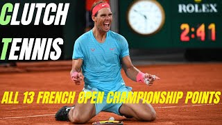 Rafael Nadal - Every French Open Championship Point (13 Roland Garros Titles)