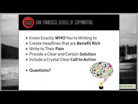 Copywriting Crash Course: San Francisco School of Copywriting