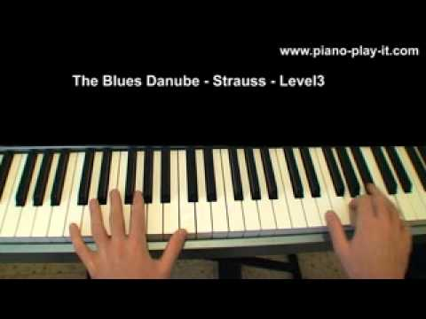 Free Easy Classical Piano Sheet Music - The Blues Danube - Strauss