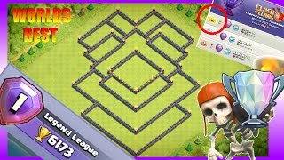 WORLDS #1 BEST BASE!! TH11 LEGEND LEAGUE BASE - USED BY TOP PLAYERS w/Traps | Trophy/War Base 2017