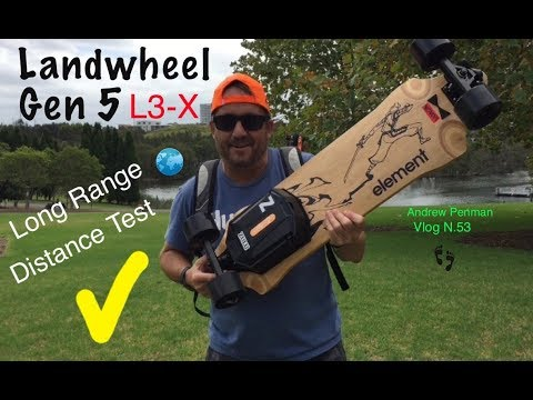 landwheel gen5 l3 x eboard long range distance test. Black Bedroom Furniture Sets. Home Design Ideas