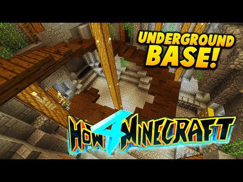 MAKING A UNDERGROUND BASE! - HOW TO MINECRAFT S4 #5 (Mountain House)